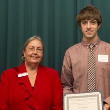 Lloyd D. and Audrey E. Ratkovich Family Scholarship - Dean Amy B. Hietapelto and Wade Wilhelmi