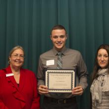 Sansio Scholarship - Dean Amy B. Hietapelto, Kevin Mathiowetz, and Heather Miller