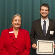 Joseph M. Thell Scholarship - Dean Amy B. Hietapelto and Nick Peterson
