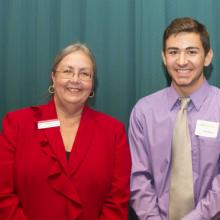 Jim and Gay Van Pelt Family Scholarship - Dean Amy B. Hietapelto and Dylan Wavra