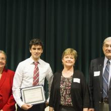 Dr. David and Roberta Vose Scholarship - Dean Amy B. Hietapelto, Bret Gitar, and David and Roberta Vose