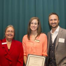 WestmorelandFlint Excellence Scholarship - Dean Amy B. Hietapelto, Emily Crea, and Andy Reierson