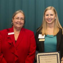 Charles F. and Selma J. Wuori Memorial Scholarship - Dean Amy B. Hietapelto and Paige Duerksen
