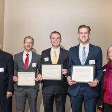 Alan L. Apter Financial Markets Program Scholarship-Nathan Herman-Curtis LaChappelle-Stephen Espel