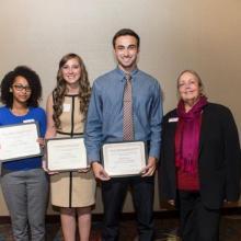 Charles E. House Scholarship - Niat Tesfai  -Caitlyn Walker - Brandon Colucci