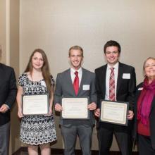 David and Louise Gartzke Scholarship - Megan Roers-Nathan Herman - Ryan Woitalla