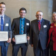 Allan L. Apter Financial Markets Program Scholarship, Ryan Woitalla, Frank Takkinen