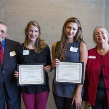 Allan L. Apter LSBE Financial Planning Program Scholarship, Michelle Feyder, Marcella Wiinamaki