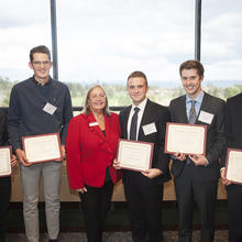 Allan L. Apter Family Scholarship, James Hoffmann, Ethan Dressen, Ryan Guimont, Nicholas Speltz, Jack Ryan