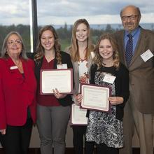 Charles E. House Scholarship, Alyssa Sorenson, Julianna Erickson, KeKe Sirjord