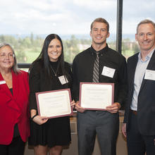 Construction Financial Management Association Scholarship, Sadie Boeckel, Samuel Lynch