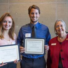 David F. McIntire Scholarship, Jordyn Foley, Brandon Suave