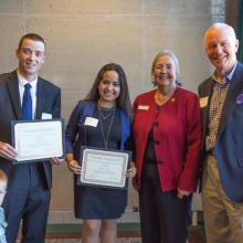 David H. Johnson and Mary F. Phillipp Family Scholarship, Jake Schmidt, Maria Jose Tapia Nieto