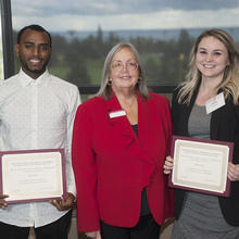 David H. Johnson & Mary F. Phillipp Family Scholarship, Omar Robe, Emily Harris