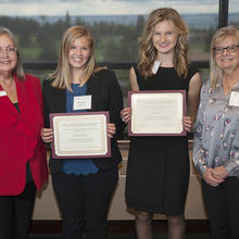 Donald and Nancy Moline Scholarship, Samantha  Anderson, Rachel Prom