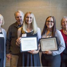 Dr. Jerrold M. Peterson Scholarship in Economics, Hatiie Ecklund, Paige Gerads
