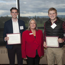 Dr. Jerrold M. Peterson Scholarship in Economics, Alexander Hook, Zechary Klindt