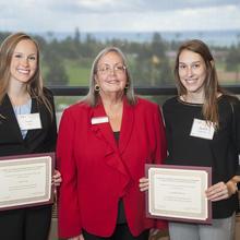 Dr. John A. Dettmann Reaching Higher Scholarship, Taylor Sarp, Danielle Kohlwey