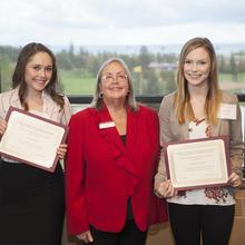 Drazkowski Family Scholarship, Nicole Sorensen, Julianna Erickson