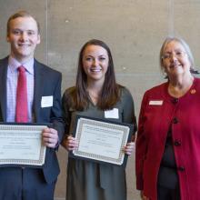 John M. and Sandra L. Holten Scholarship, Callie Chester, Carter Mandelkow