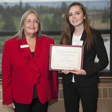 Kjell R. and Rosemary J. Knudsen Dean Emeritus Scholarship, Caitlin Roberts