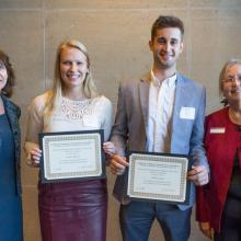 Minnesota Power Employees Credit Union (MPECU) Scholarship, Andrew Achter, Kaitlyn Albrecht