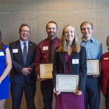RSM US LLP Accounting Scholarship, Jason Johnson, Kyle Omtvedt, Molly Wuollet