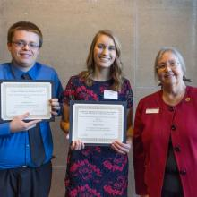Techne R&D Systems Merit Scholarship in Business, Abigail Fischer, Zachary Schurr