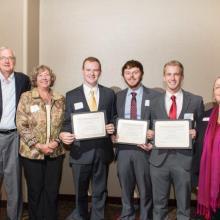Jim, Kathy and Brent Vizanko Family Scholarship - Curtis LaChappelle - Travis Eisenbacher - Nathan Herman