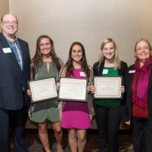 LSBE Honors Scholarship - Violette Pfefferle-Josie Valek - Nicole Jamsa